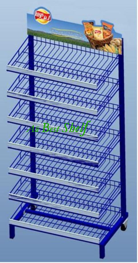 Free design Shelf manufacture cheap factory price metal display rack, wire shelving display stand for sale(China (Mainland))