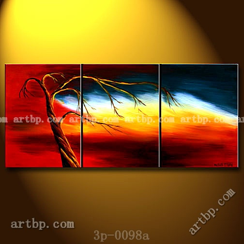 Blowing Away Oil Painting On Canvas Best Modern 3 Panel 3 Pcs /Set Discount Decoration Living Room Wall Decor Stickers Modern(China (Mainland))