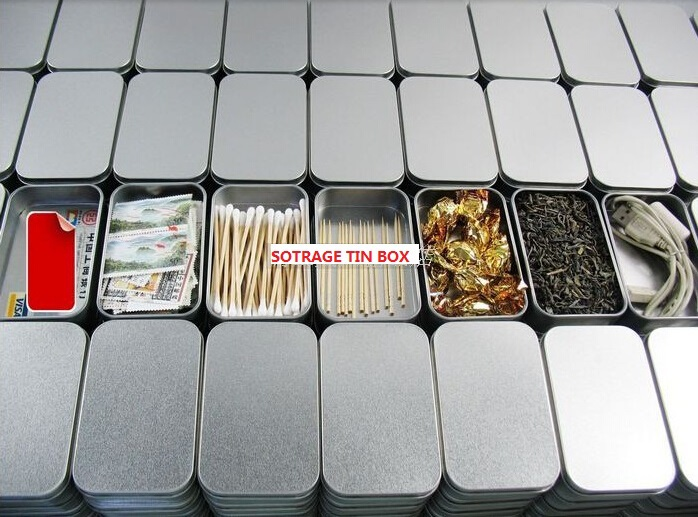 Size:95x65x20mm silver rectangle tin box/plain metal box/small tin box/mint tin box with client own black color logo printing(China (Mainland))