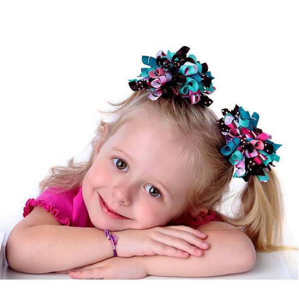 baby kids Children's Headwear Baby hair Accessories korker Christmas hair bows children headband Girls Korker ribbon accessories(China (Mainland))