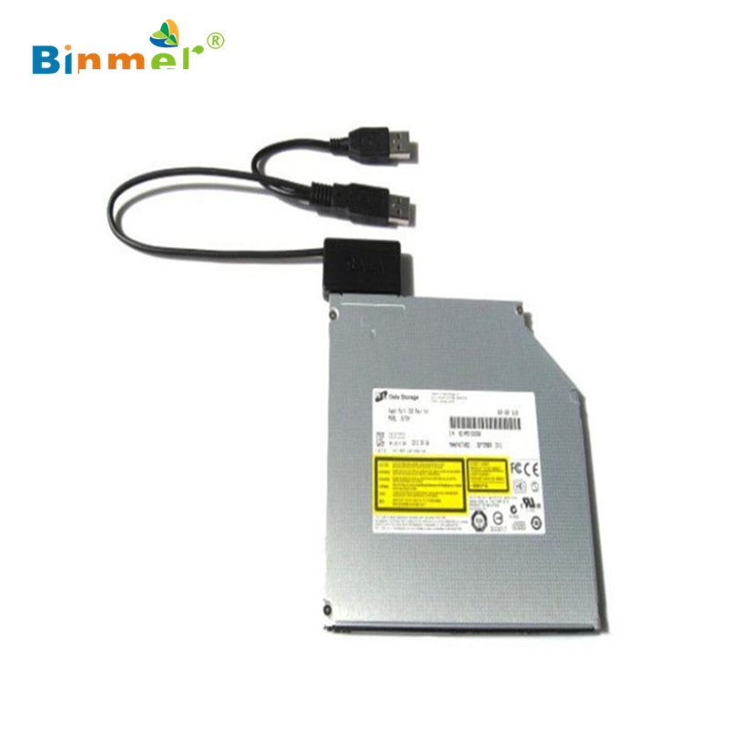 Factory price Laptop USB 2.0 to 7+6 13Pin Slimline Slim for SATA CD/DVD Optical Drive Adapter Cable 51126(China (Mainland))