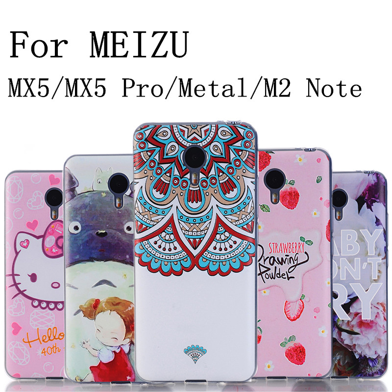 Sale Case For Meizu MX5 / MX5 Pro / Metal / M2 NOTE Cover Case Soft Silicone Gradient Mobile Phone Cases Back Cover Skin(China (Mainland))