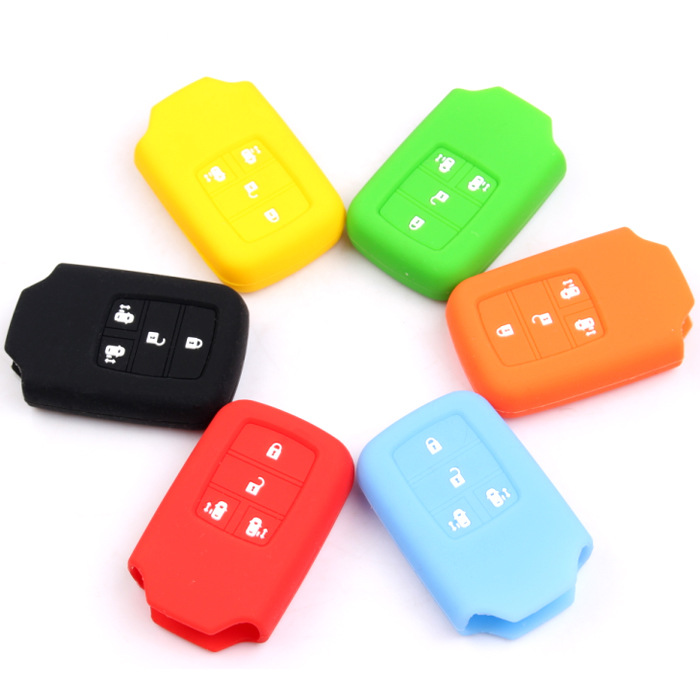 2015 New Silicone Car Key Cover,Hot sale Silicone car key cover case for HONDA Odyssey 4 Buttons Smart Car key(China (Mainland))