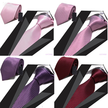 8CM Width Men Tie High Quality Classic Mens Ties Plain Solid Jacquard Men Necktie Gentleman Party Office Accessories YJC0009(China (Mainland))