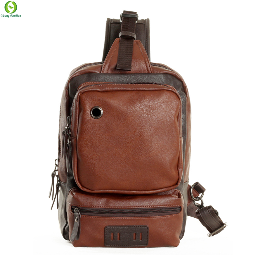 large capacity men Messenger Bags leather casual men Chest pack outdoor sports men Shoulder Bags travel Men's Crossbody Bags
