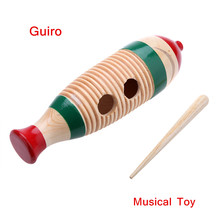 Fish-Shaped Wooden Guiro Toy Musical Instrument Kid Children Gift Musical Toy Latin-American Percussion Instrument(China (Mainland))