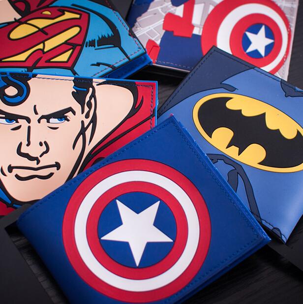 Гаджет  Comics Dc Marvel the Avengers Hulk/Iron Man Thor/America/Superman Purse Logo Credit Oyster license card Holder wallet None Камера и Сумки