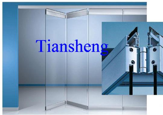commerciële vouwen frameloze glazen deuren(China (Mainland))