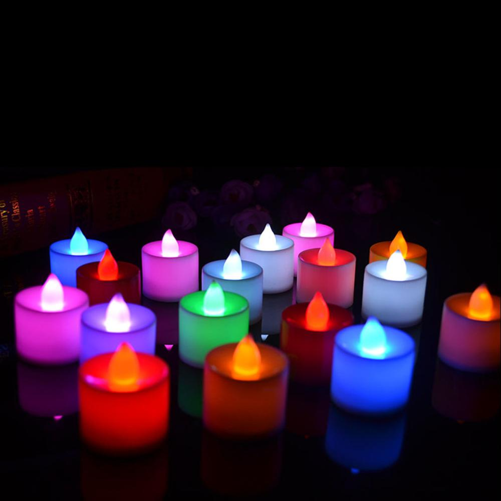 Romantic 6 Colors Candle Shape LED Fliker Flameless Candle Light For Wedding Party High Quality(China (Mainland))