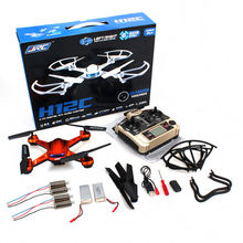 Free Shipping! RTF JJRC H12C RC Drone Quadcopter Aircraft 5M HD Cam &Extral 2 Battery+4 Motors