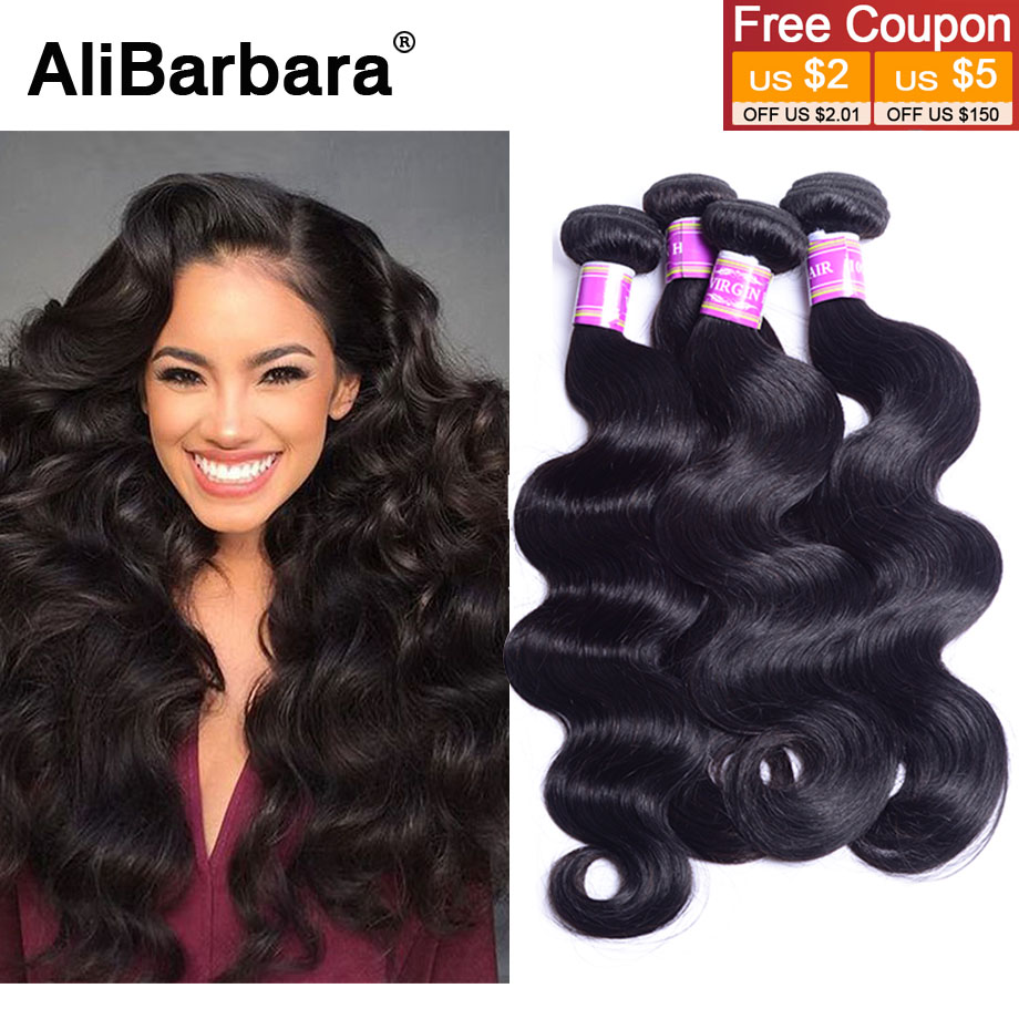 Brazilian Virgin Hair Brazilian Body Wave 4bundles 7A Virgin Brazilian body wave Human Hair Weaves Cheap brazilian wavy hair 1B#(China (Mainland))