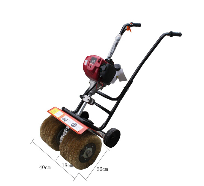 Gas engine hand push steel tile roof polisher anti-corrosion,blasting,grinding epoxy floor polishing machine, rust removers(China (Mainland))