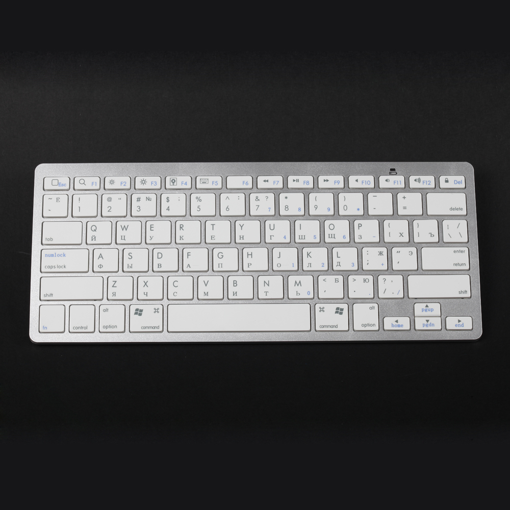 Russia keyboard for smart phone lpad Android tablet PC laptop Wireless bluetooth keyboard in Russian letter with retail package(China (Mainland))
