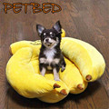 Plush 3D Fruit Bed For Pets Puppy Dog Cat Cushion Comfortable Banana Bed Pet Products