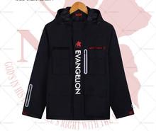 Eva -Jacket Cartoon Evangelion Black Winter Coat Hooded Top Quality! Unisex