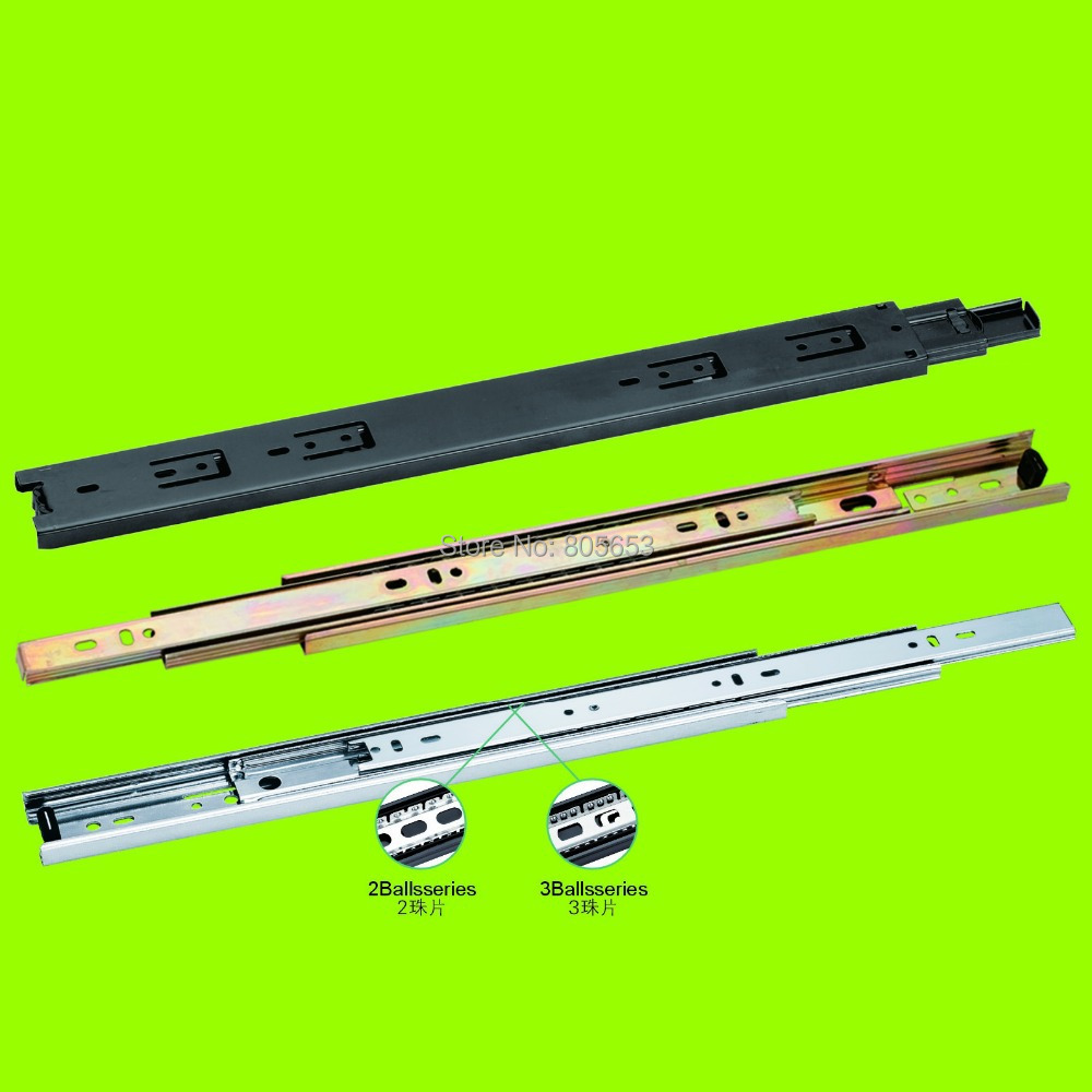 high quality + best price full-extension drawer slide track self-closing 18 inch(DS2411-18)(China (Mainland))