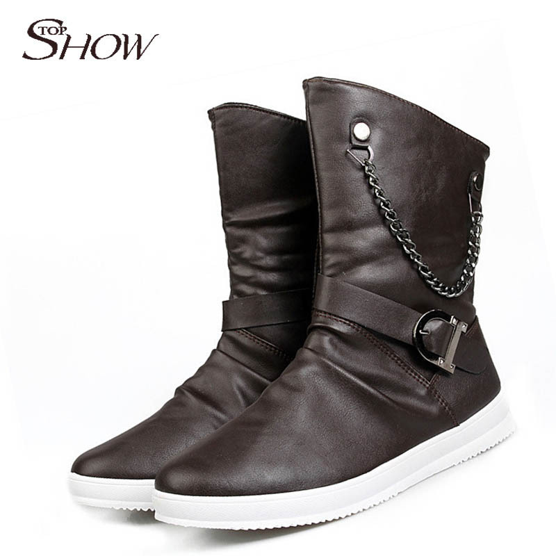 2014 new arrival style fashion motorcycle boots