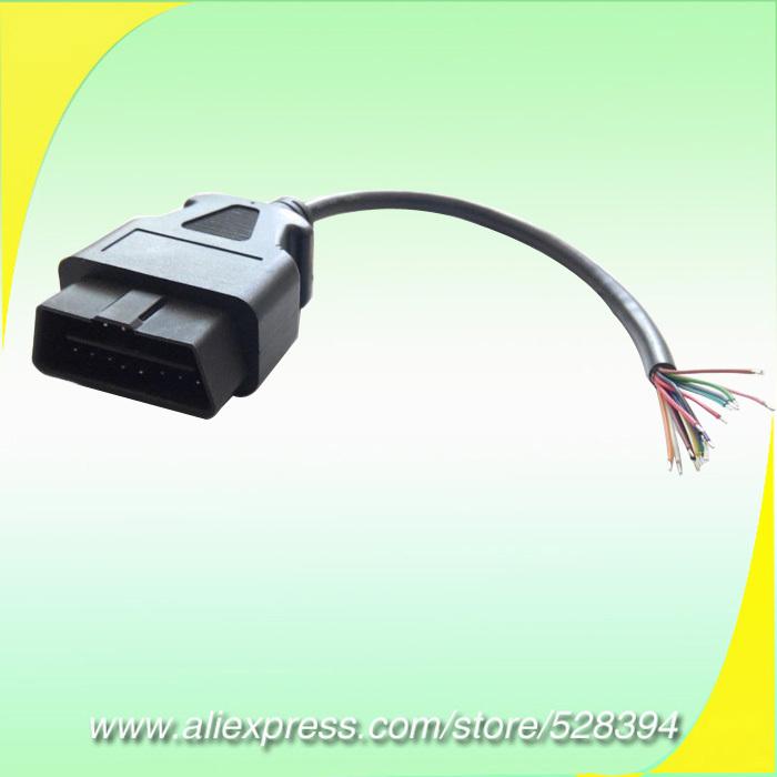30 см OBD-2 OBD II OBDII OBD2 16pin 16 контакт. штыревое , чтобы открыть OBD диагностический кабель OBDIIM J1962M открыть CNPAM бесплатная