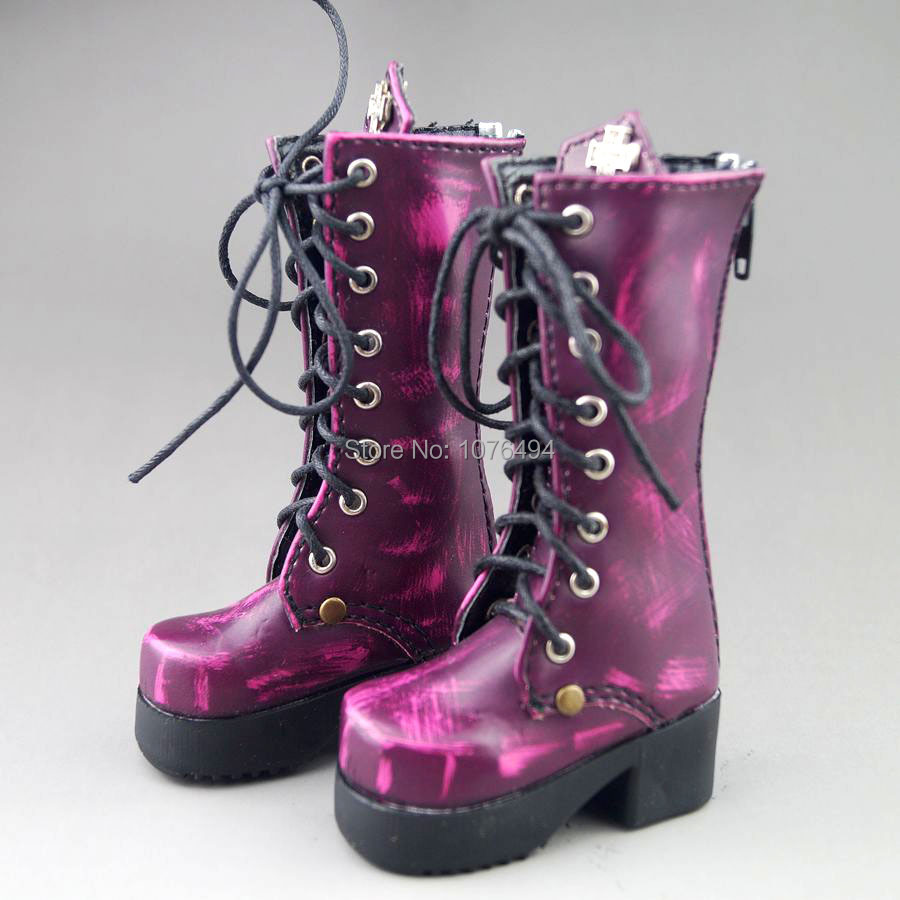 Purple Boots BJD Shoes For 1/4 17 44cm tall BJD Doll AOD AS Synthetic Leather X054<br><br>Aliexpress