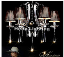 Buy Hot Selling Modern Chrome Crystal Chandelier Light Large Crystal Pendant Lamp Big Amber Chandelier Light AC LED Free Shipping for $204.48 in AliExpress store