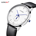 LONGBO Brand Men Genuine Leather Watch Men s Casual Simple 3Bar Waterproof Wristwatch New Business Watch