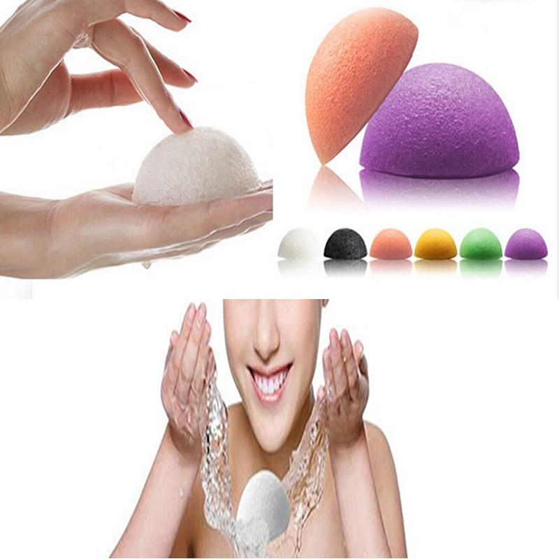 1pcs Natural Konjac Konnyaku Facial Puff Face Wash Cleansing Sponge Green Pink White 3color available(China (Mainland))