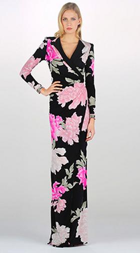 Free shipping Spring 2015 Stunning Printed Stretch Jersey V-neck  Maxi Dress Long Dress 0120EPL05CОдежда и ак�е��уары<br><br><br>Aliexpress