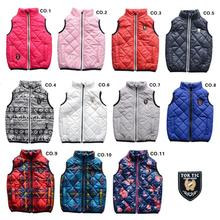 TOK TIK kids spring/autumn unisex warm vest boys vests zipper coat children kids waistcoat winter girl vests 3-12 years 11colors