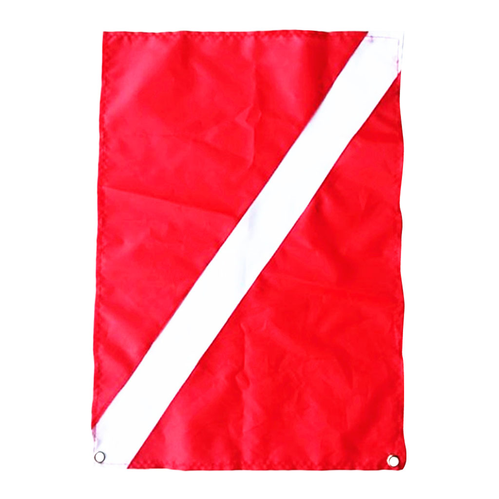 Scuba Dive Free Diving Diver Down Flag Safety Signal Marker Banner Boat Flag Red White for Diving Snorkeling Underwater Sport