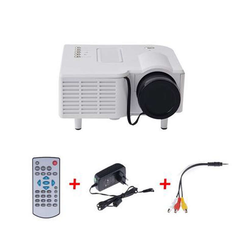 New uc28 portable led projector cinema theater pc laptop for Small projector for laptop