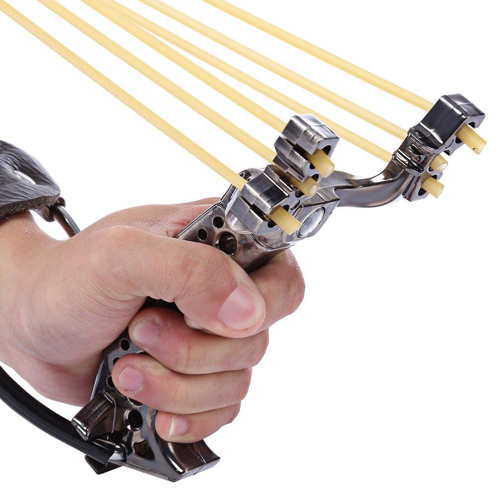 Outdoor 1PC Powerful Steel Slingshot Rubber Bands Wrist Catapult Wrist Sling Shot Outdoor Hunting Slingshot Equipment(China (Mainland))