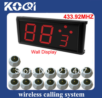 433.92mhz nurse calling system with wireless hospital with 1pc pager and 15pcs nurse call press button DHL free shipping free