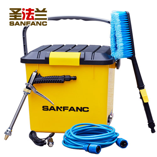 Electric car wash device household washing machine portable storage box type high pressure truck mounted car washing machine(China (Mainland))