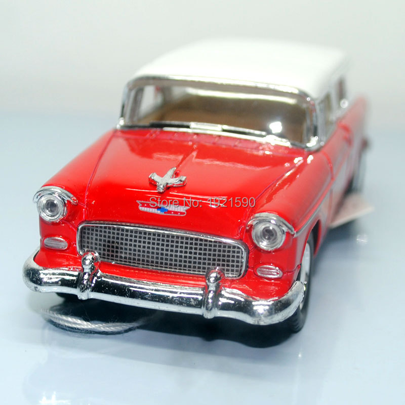 Brand New KINGSMART 1/40 Scale USA 1955 Chevy Nomad Diecast Metal Pull Back Car Model Toy For Gift/Kids/Collection(China (Mainland))
