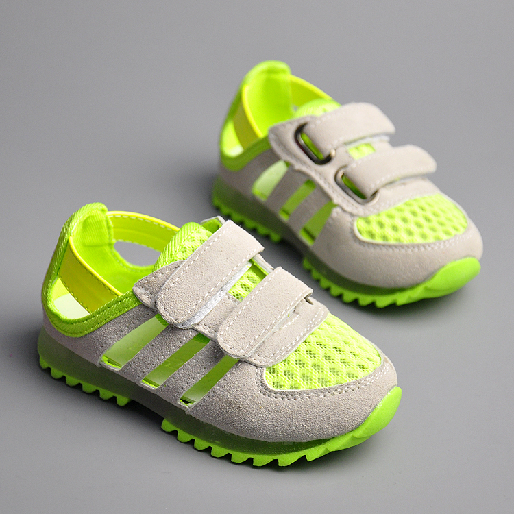 C&R* 2014 Summer 3 Colors Casual Children Shoes,Sandals for Boys Girls Basketball Children Sneakers(China (Mainland))
