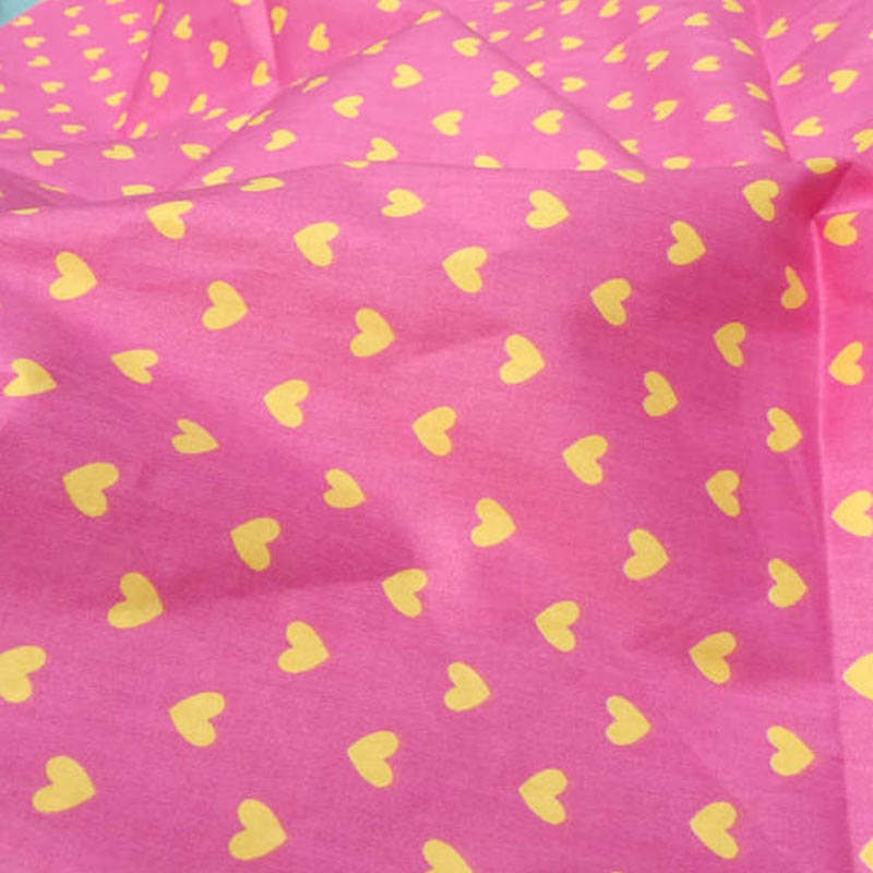 Buy all match pink yellow small heart for Unique childrens fabric