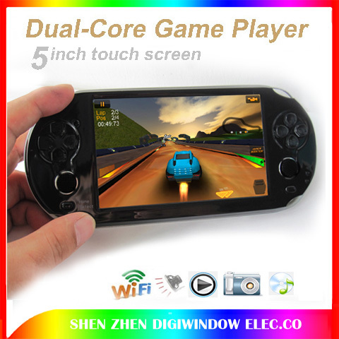 """WIFI game player Dual-core + 5.0"""" touch screen video games console player +8GB android4.2 OS +camera+Speaker +tablet pc Function(China (Mainland))"""