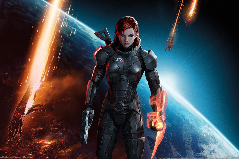 G206 Mass Effect Game Poster Art Wall Pictures for Living Room in Canvas fabric cloth Print(China (Mainland))