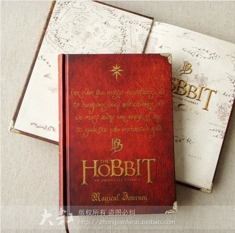 2014 new fashion Hobbit hardcover notebook novelty items vintage diary notepad school supplies - Shanghai Yinuo Business Co,Ltd store