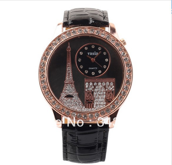 Hot New 2014 Latest Style Fashion Eiffel Tower Women Quarts Watches Classic Trendy Top Popular Brand New Ladies Girls Hours(China (Mainland))