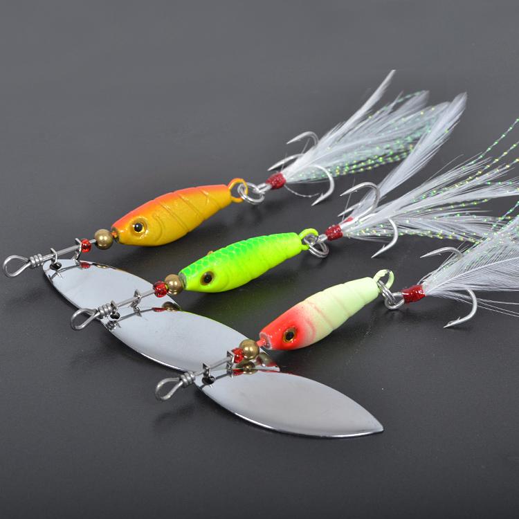 Spinnerbait 3pcs 9g lures,Trulinoya spirit spinner lures,fishing lures,fishing hard bait Blades Treble Hooks metal spoons(China (Mainland))