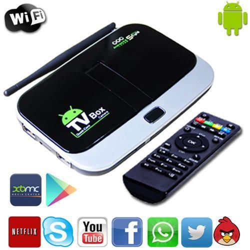 Promotion!! CS918S Android 4.2 Quad Core CPU Wifi Bluetooth HDMI Camera Mic RJ45 XBMC TV Box skype call on tv(China (Mainland))
