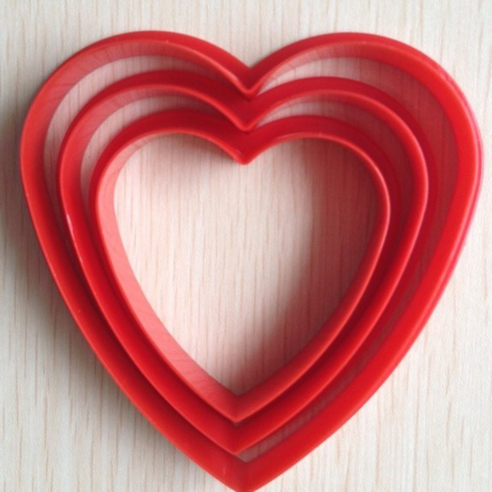 "3PCS Red Love"" Heart To Heart"" Cake Handmade Goods DIY Mold A043(China (Mainland))"