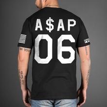 ASAP ROCKY 06 T Shirts Mens Hip Hop Basketball Sports Streetwear Hipster A$AP Tshirt Cotton Short Sleeve Summer Yeezy Yeezus