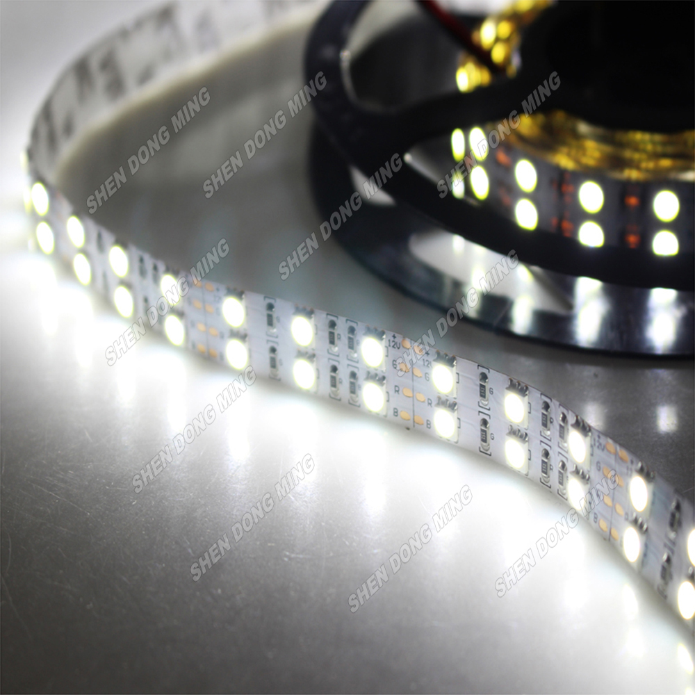 15M Led Strip 5050 Double Row Fita LED Strip Light 600 LEDs Roll DC 12V Non-waterproof Indoors Decoration Strip Light Lamp(China (Mainland))
