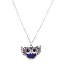 Buy Trendy Owl Necklace Fashion Rhinestone Crystal Jewelry Statement Women Necklace Chain Long Necklaces & Pendants XL56821 for $1.09 in AliExpress store