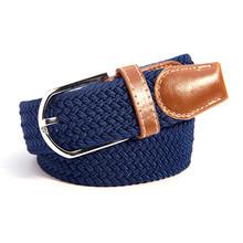 Buy 30 Colors Men Women's Canvas Plain Webbing Metal Buckle Woven Stretch Waist Belt Fashion Canvas Belt for $3.54 in AliExpress store