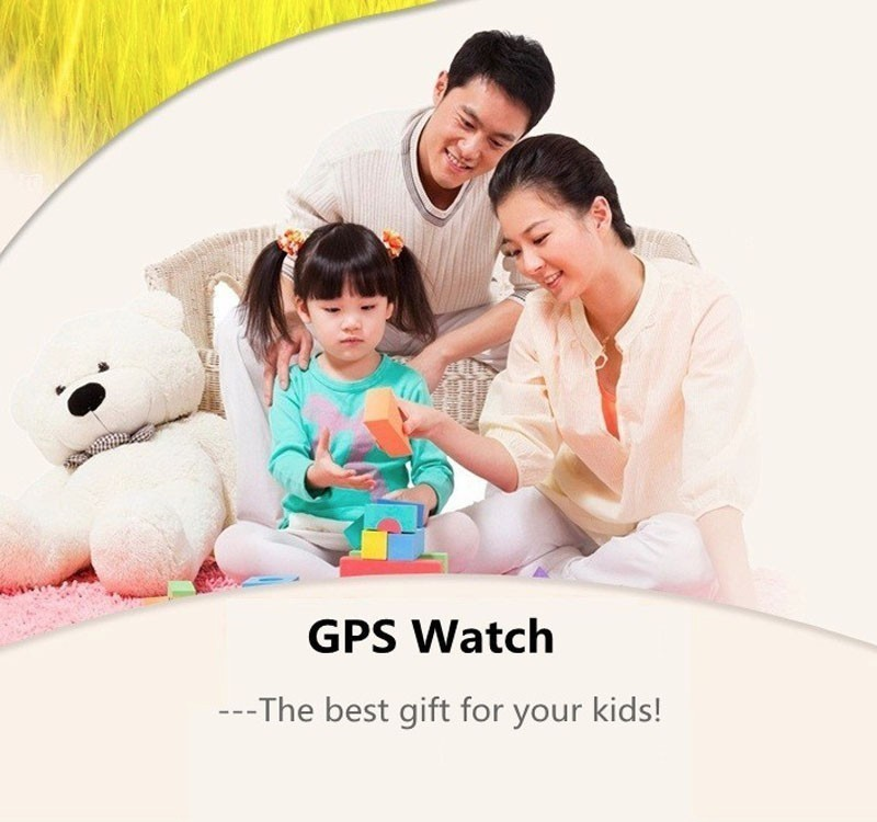 image for Original A6 GPS Tracker Watch For Kids Children Smart Watch With SOS B