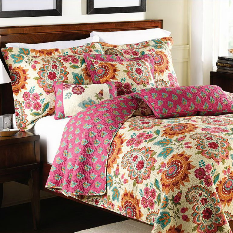 BEST PRICE fashion rustic bedding 100% cotton American quilting by 2pcs pillowcase bed cover three piece set towels quilt(China (Mainland))