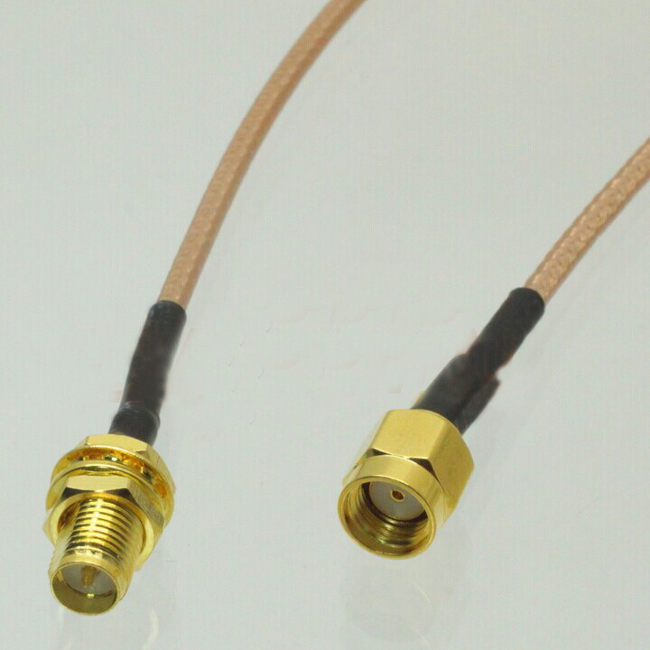 1pc RP SMA Male to RP SMA Female Pigtail Cable Coaxial RG316 Cord 15CM